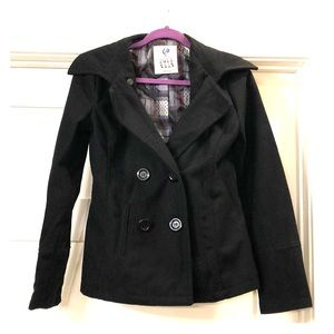 Polyester/Wool Blend Black Jacket